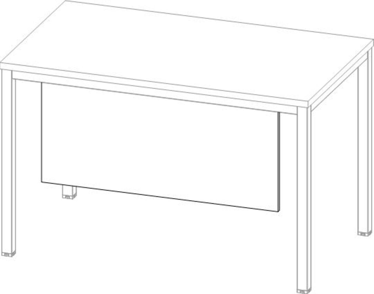 Царга к столу  Public Comfort 122x2x44 - фото 6