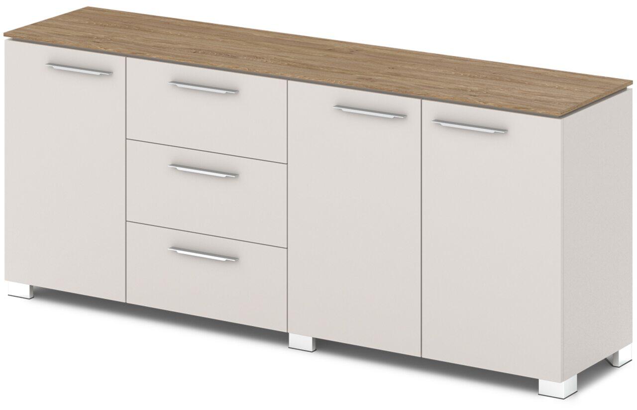 Шкаф низкий комбинированный  Grandeza 192x45x81 - фото 2