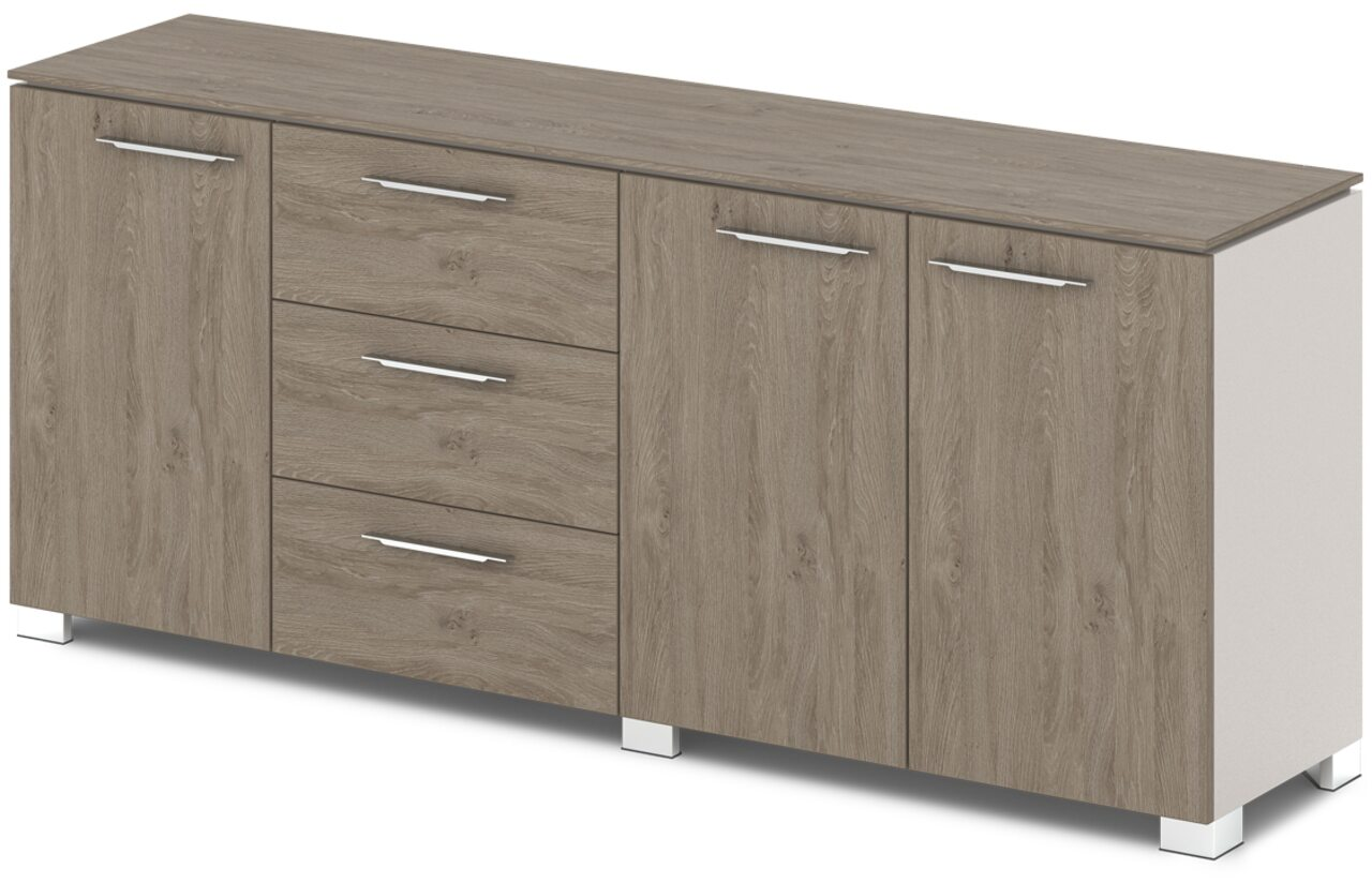 Шкаф низкий комбинированный  Grandeza 192x45x81 - фото 3