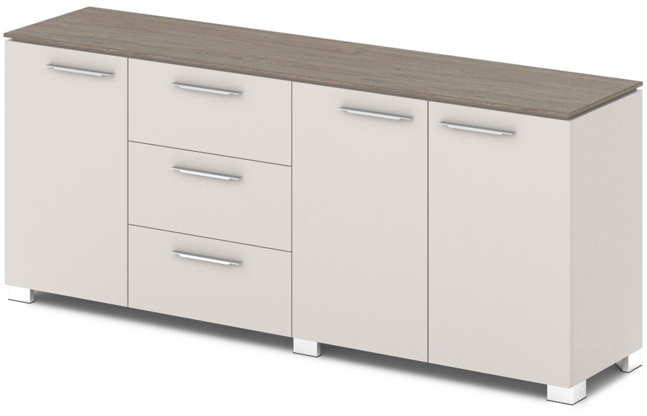 Шкаф низкий комбинированный  Grandeza 192x45x81 - фото 4