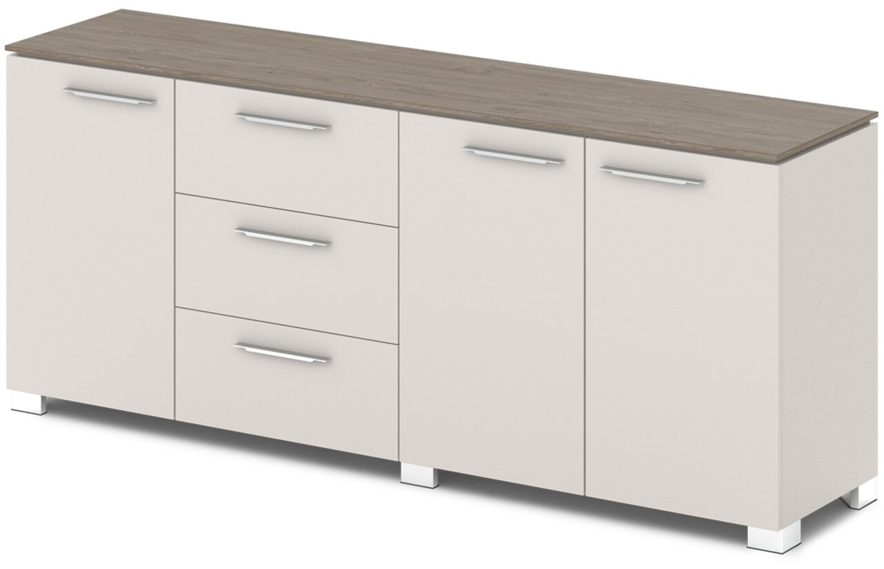 Шкаф низкий комбинированный  Grandeza 192x45x81 - фото 5