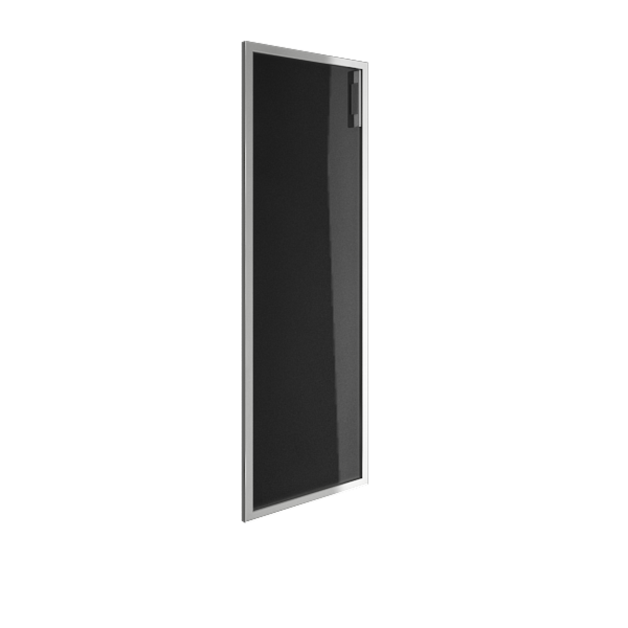 Дверь стекло в раме среднее Lacobel black левая - фото 5