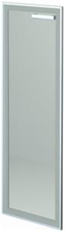 Дверь стеклянная в алюминиевой раме правая HT-601.СР.ПР.Ф  Аргентум 1x39x118 - фото 6
