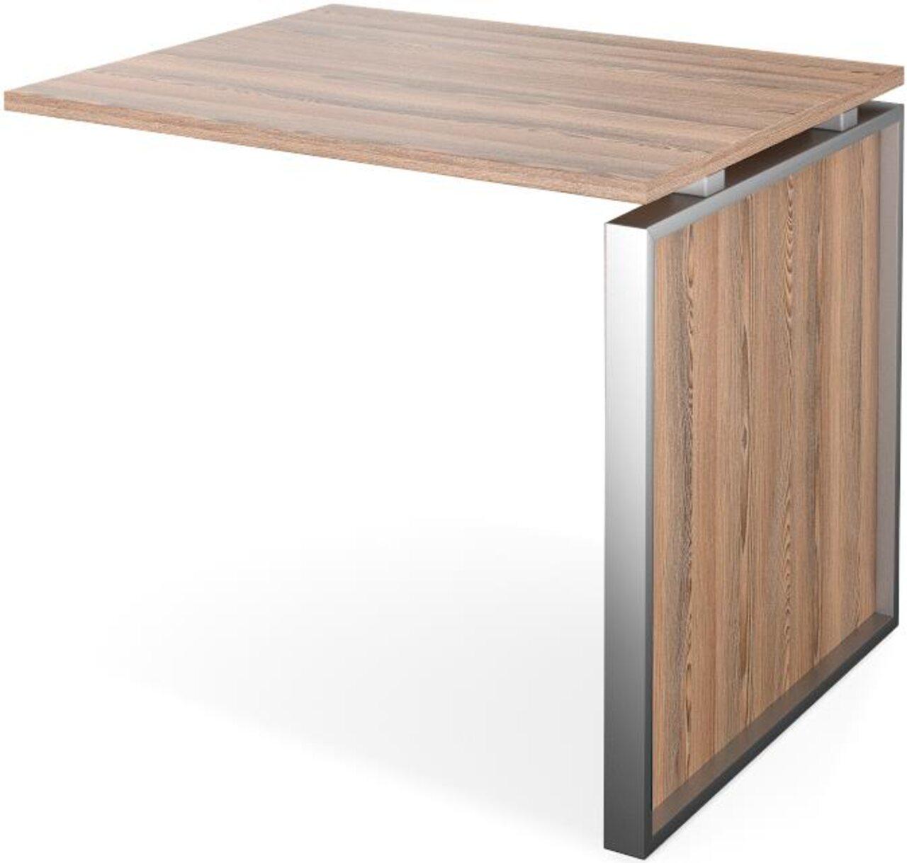 Конференц-приставка стола руководителя Аргентум 60x90x75 - фото 6