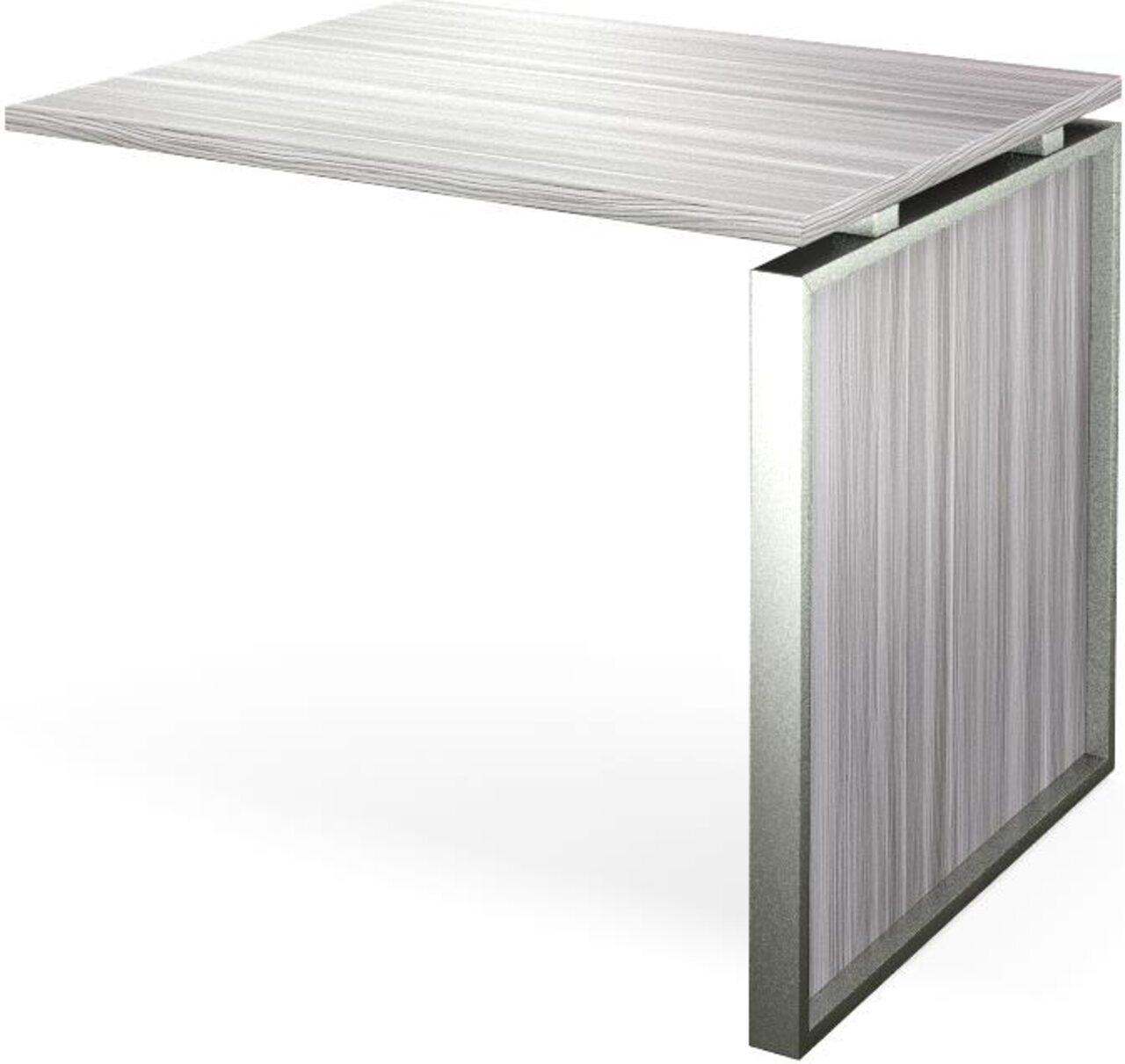 Конференц-приставка стола руководителя Аргентум 60x90x75 - фото 4