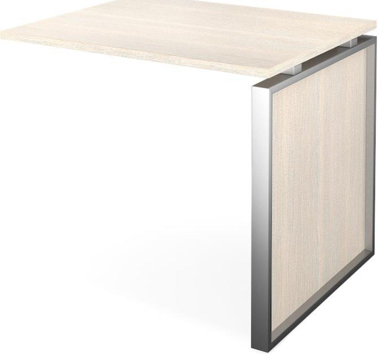 Конференц-приставка стола руководителя Аргентум 60x90x75 - фото 5