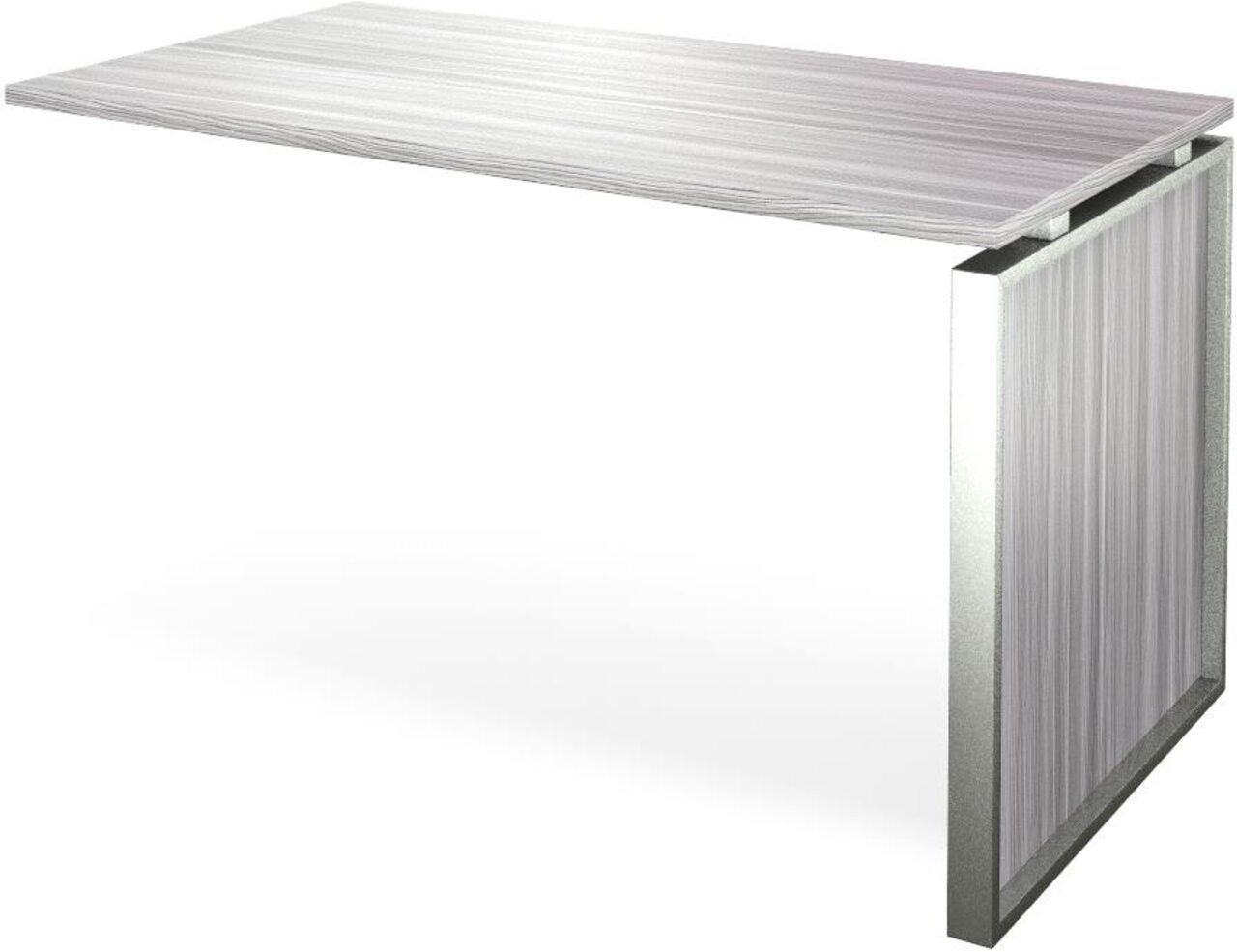 Конференц-приставка стола руководителя Аргентум 130x60x75 - фото 4