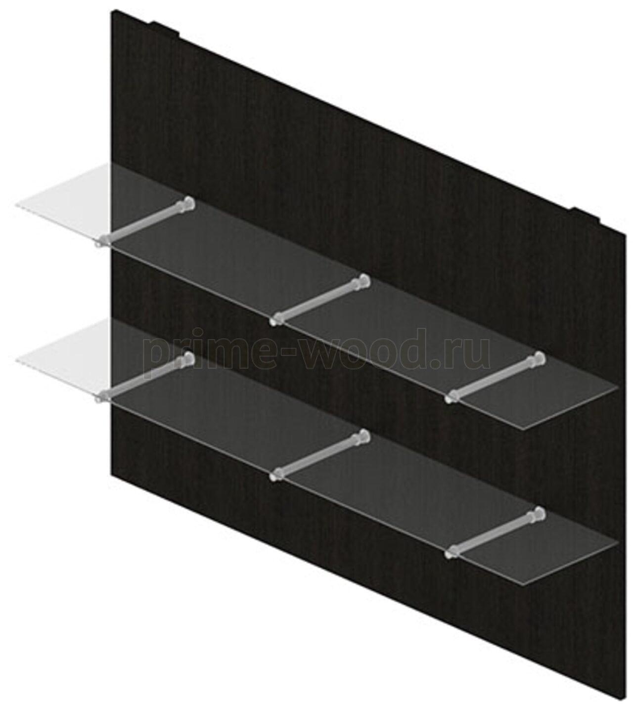 Панель стеновая со стекл.полками  Rio Direct 160x32x115 - фото 3