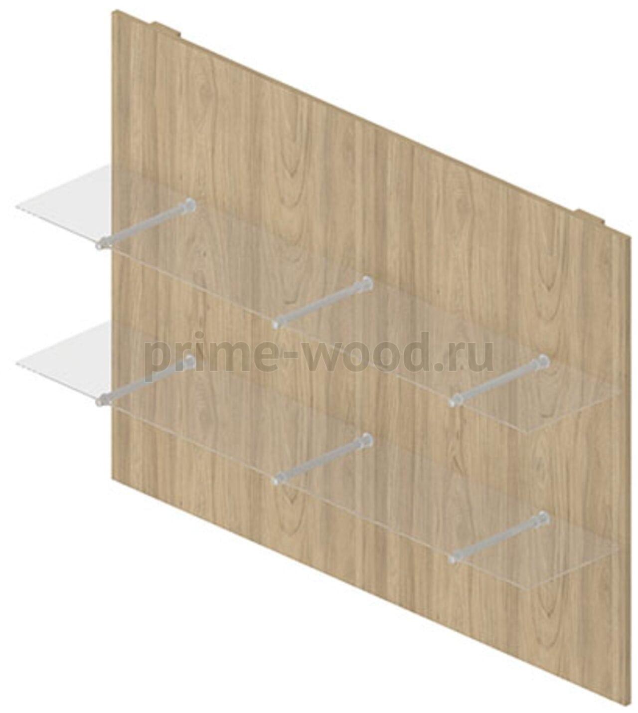 Панель стеновая со стекл.полками  Rio Direct 160x32x115 - фото 2