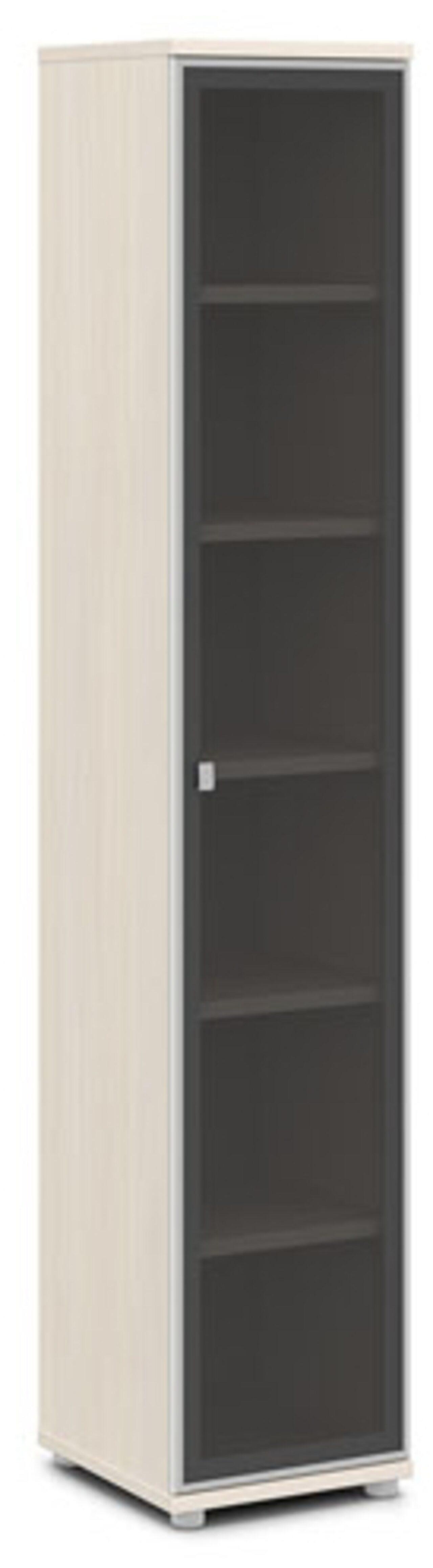 Шкаф со стеклом в алюминиевом профиле  Vasanta 42x44x220 - фото 7