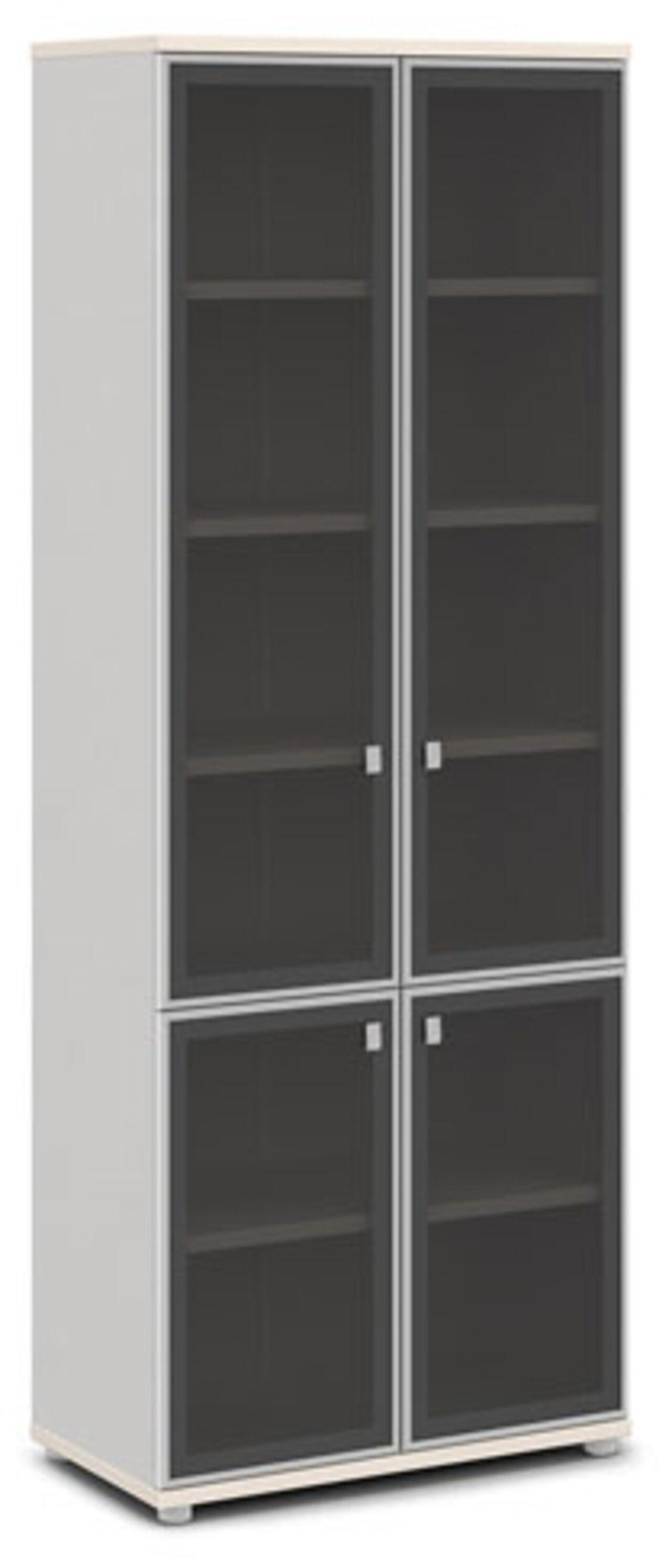 Шкаф со стеклом в алюминиевом профиле  Vasanta 82x44x220 - фото 7