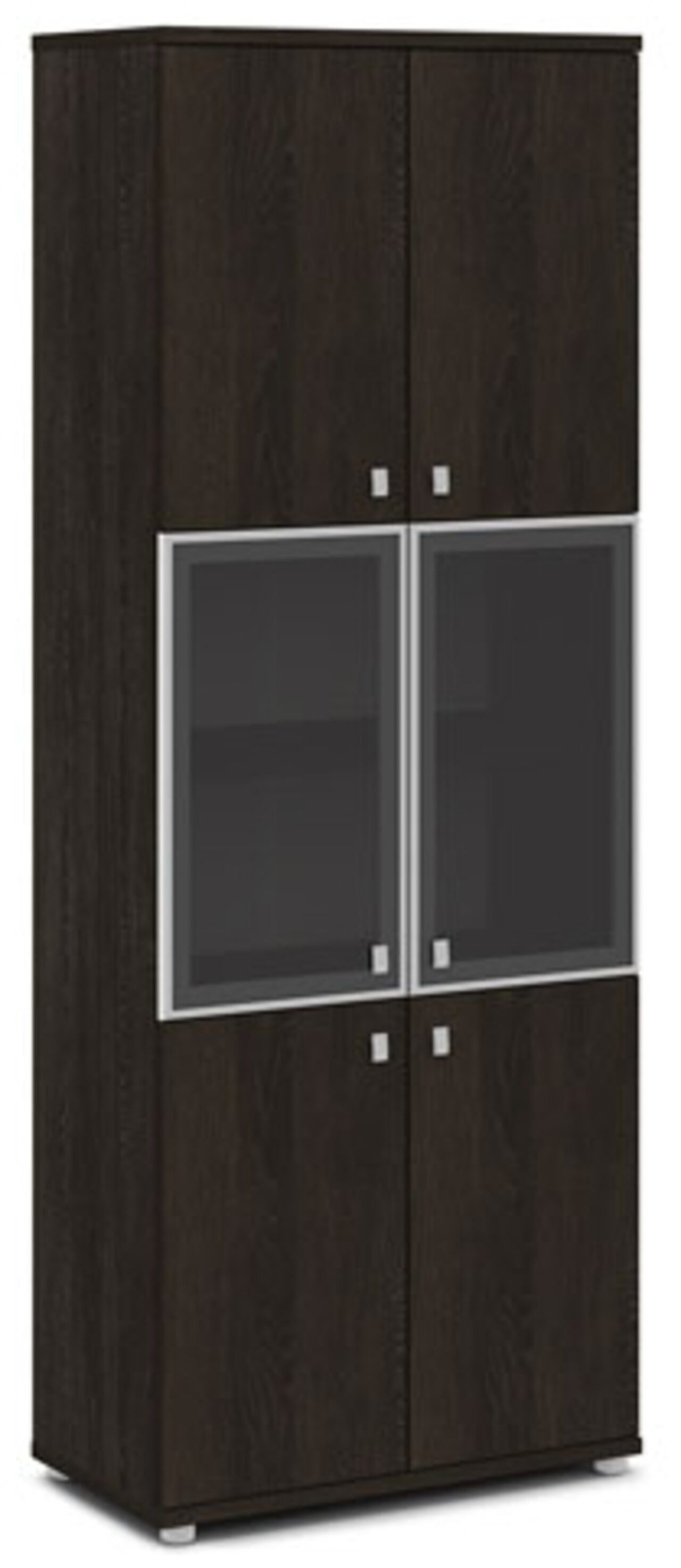 Шкаф со стеклом в алюминиевом профиле  Vasanta 82x44x220 - фото 4