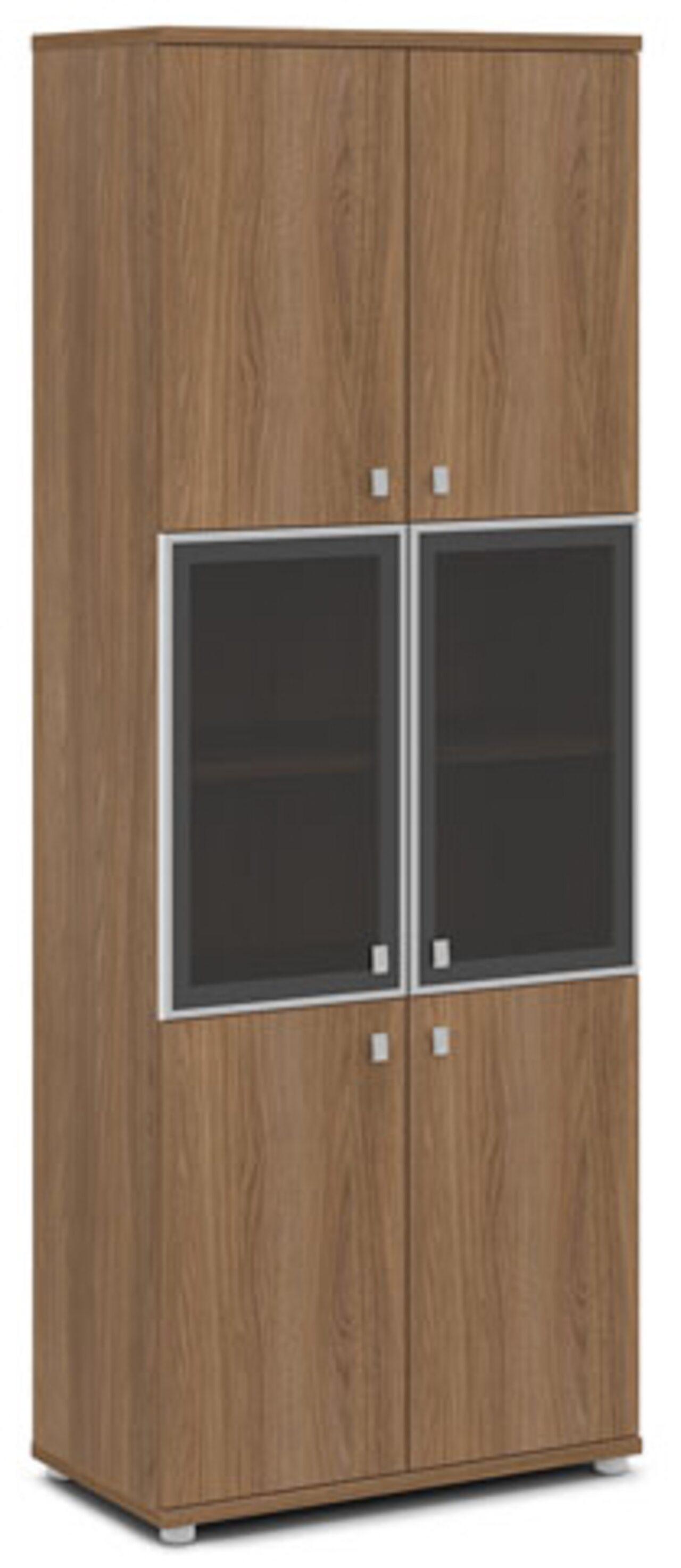 Шкаф со стеклом в алюминиевом профиле  Vasanta 82x44x220 - фото 5