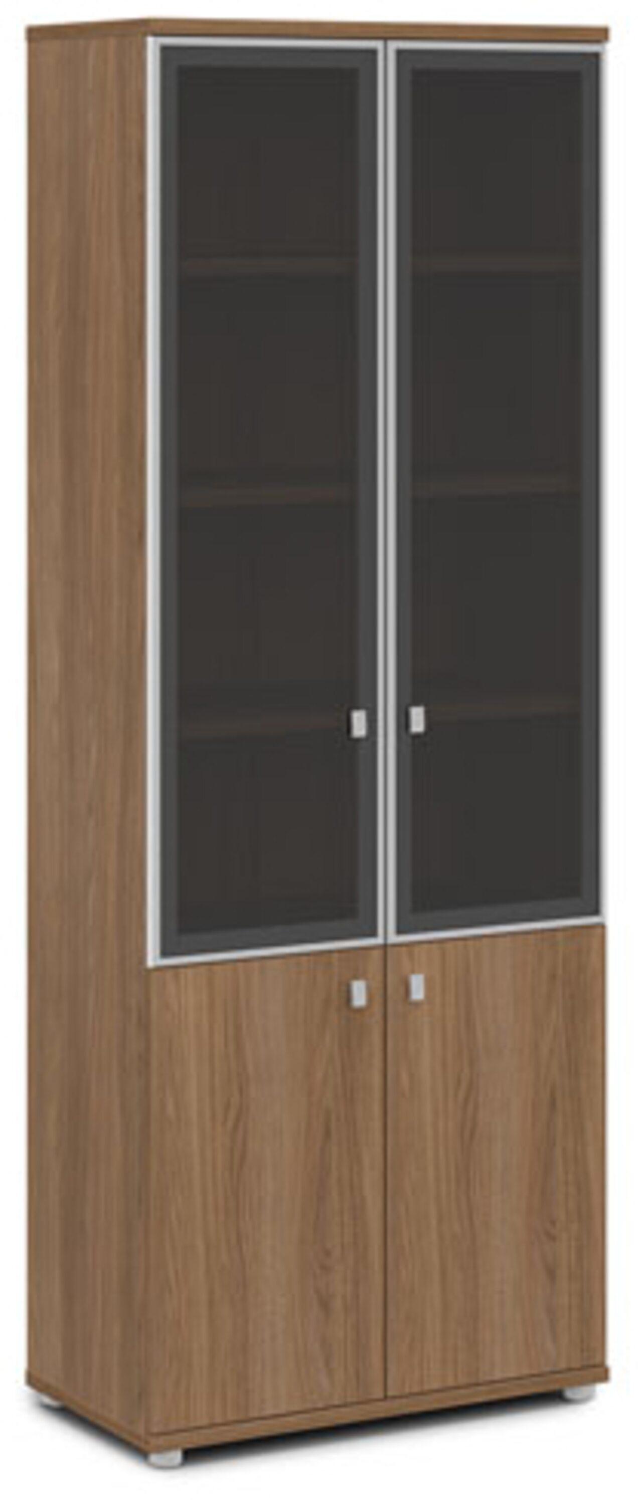 Шкаф со стеклом в алюминиевом профиле - фото 3