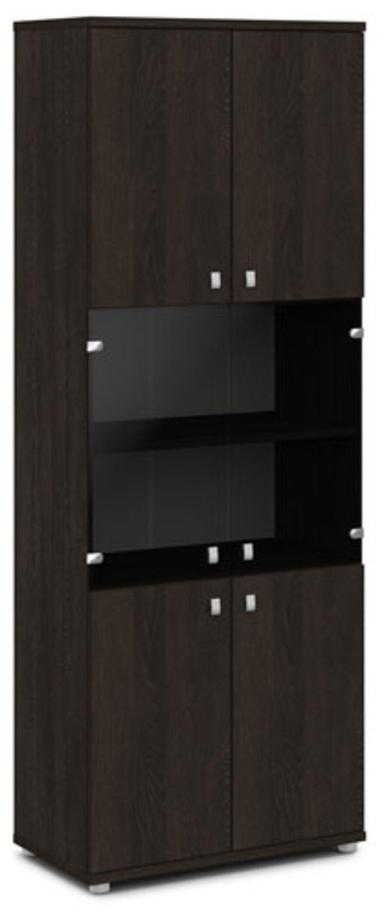 Шкаф со стеклом  Vasanta 82x44x220 - фото 4