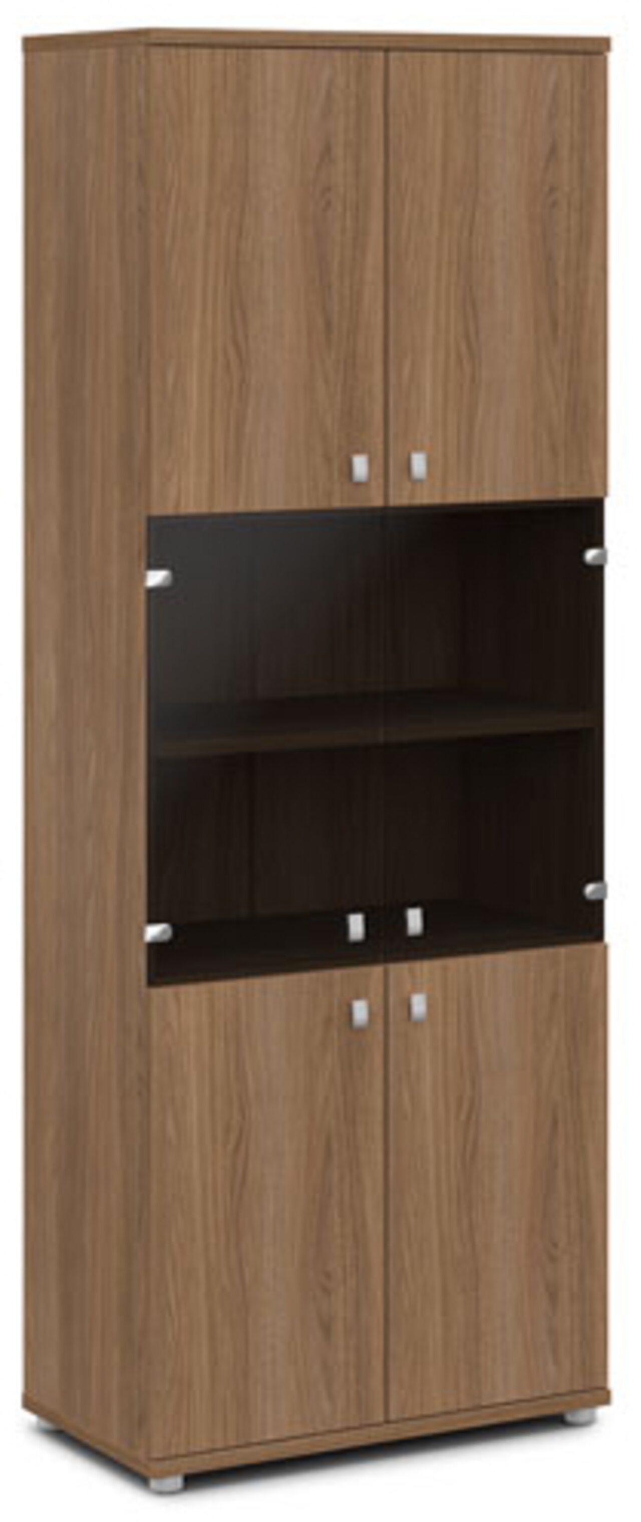 Шкаф со стеклом  Vasanta 82x44x220 - фото 5