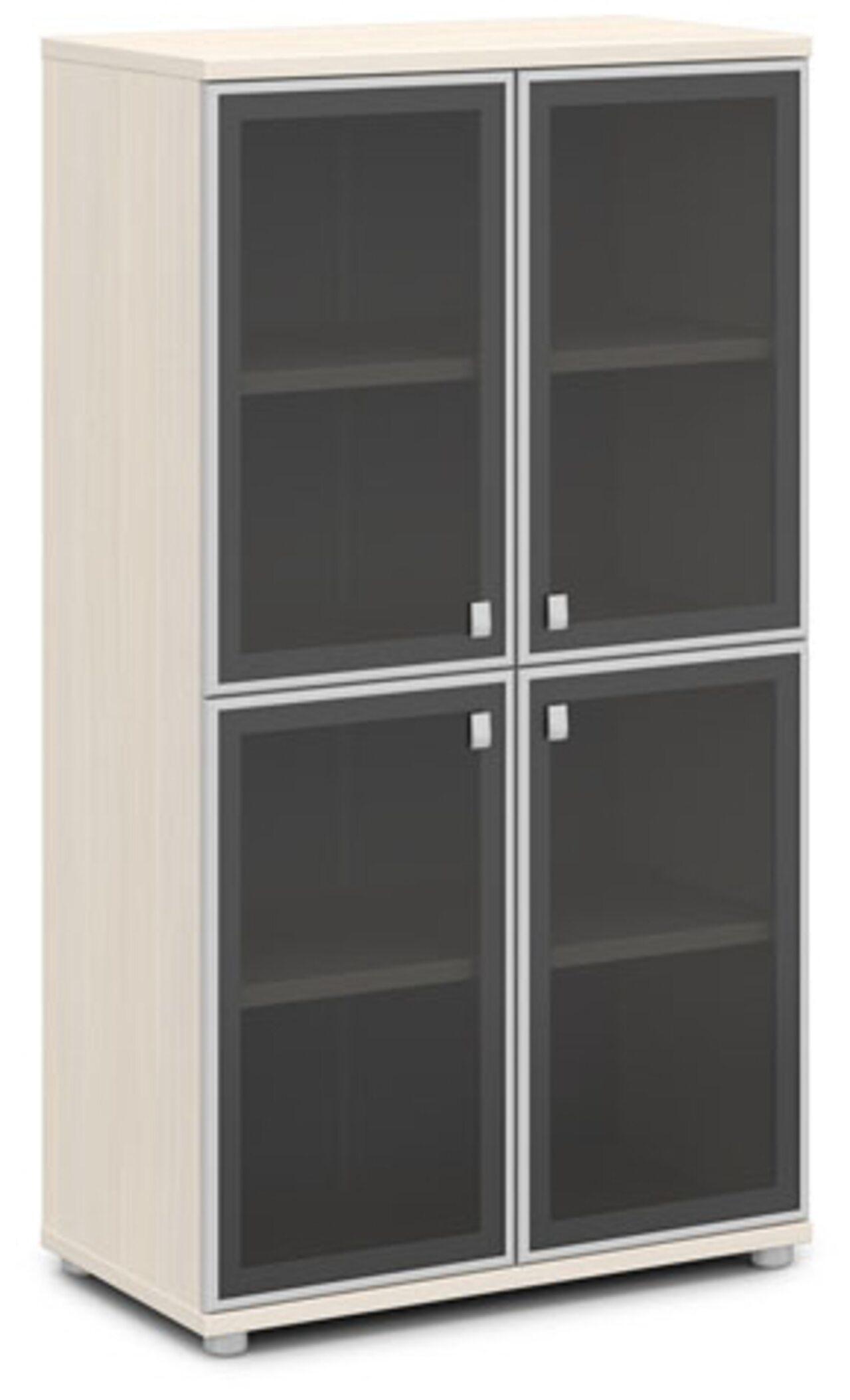 Шкаф со стеклом в алюминиевом профиле  Vasanta 82x44x149 - фото 6
