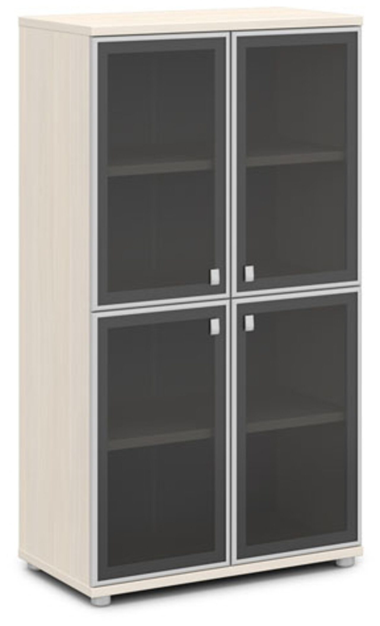 Шкаф со стеклом в алюминиевом профиле  Vasanta 82x44x149 - фото 7