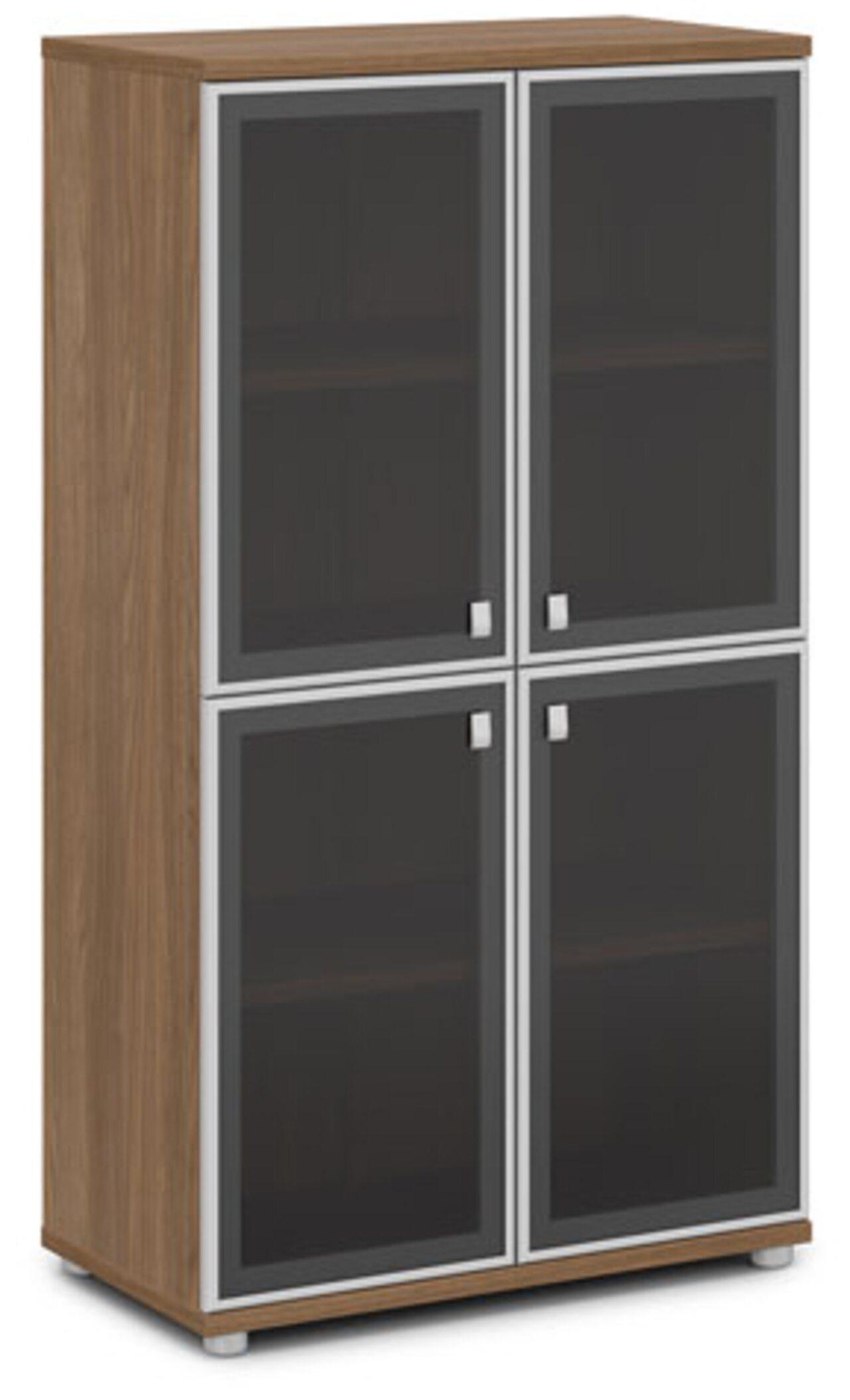 Шкаф со стеклом в алюминиевом профиле  Vasanta 82x44x149 - фото 5