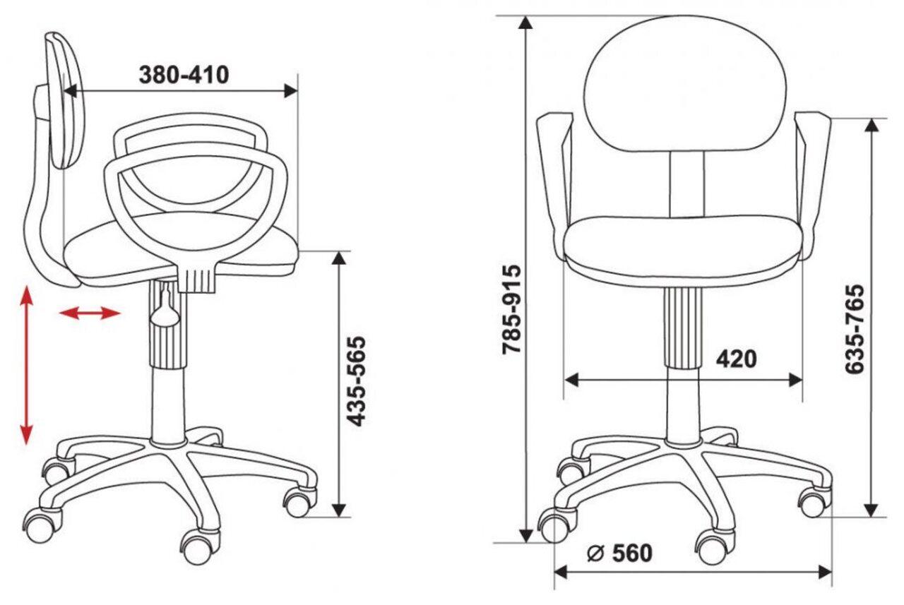Кресло для персонала CH-213AXN/GREY - фото 4