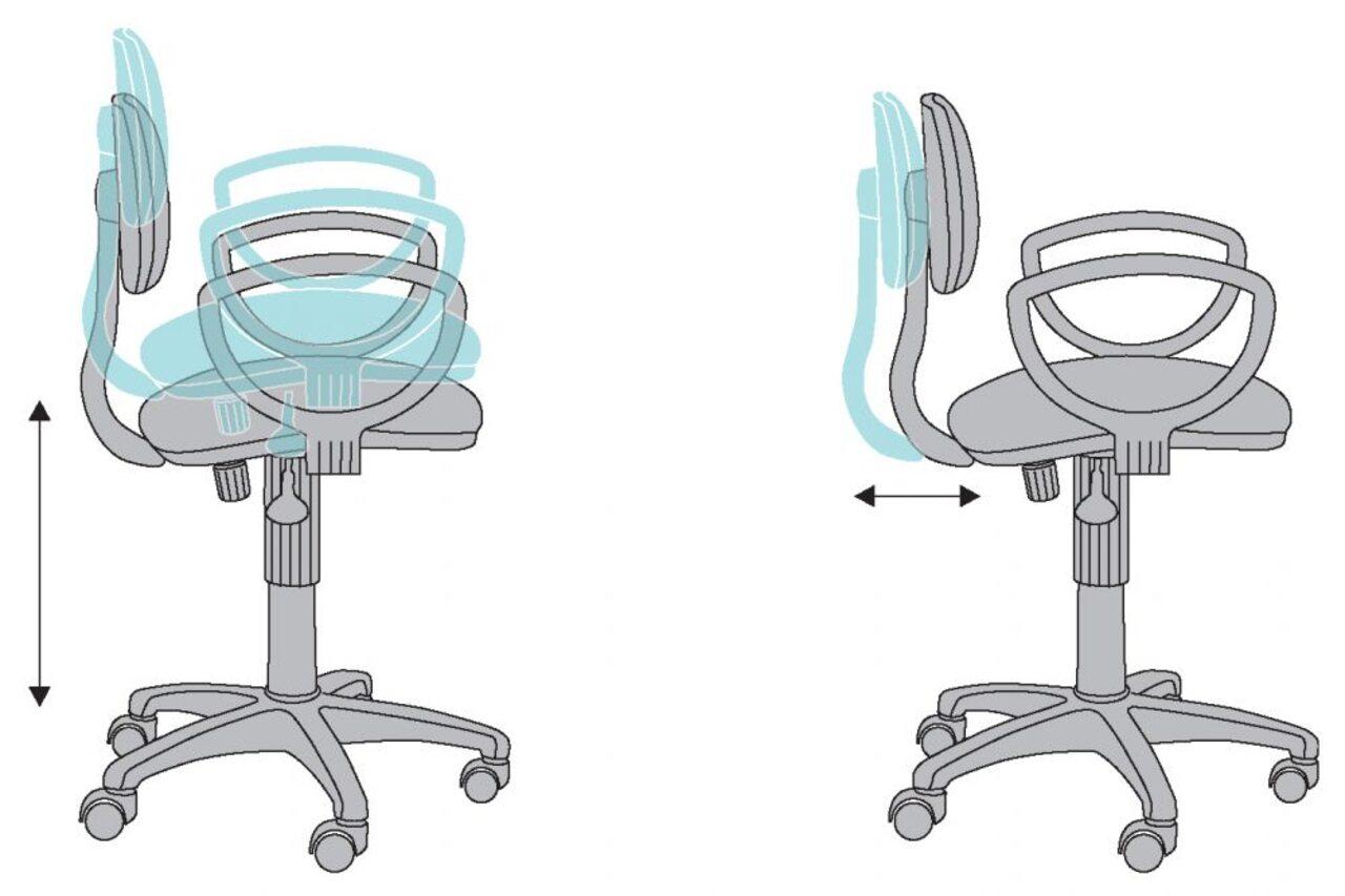 Кресло для персонала CH-213AXN/GREY - фото 3