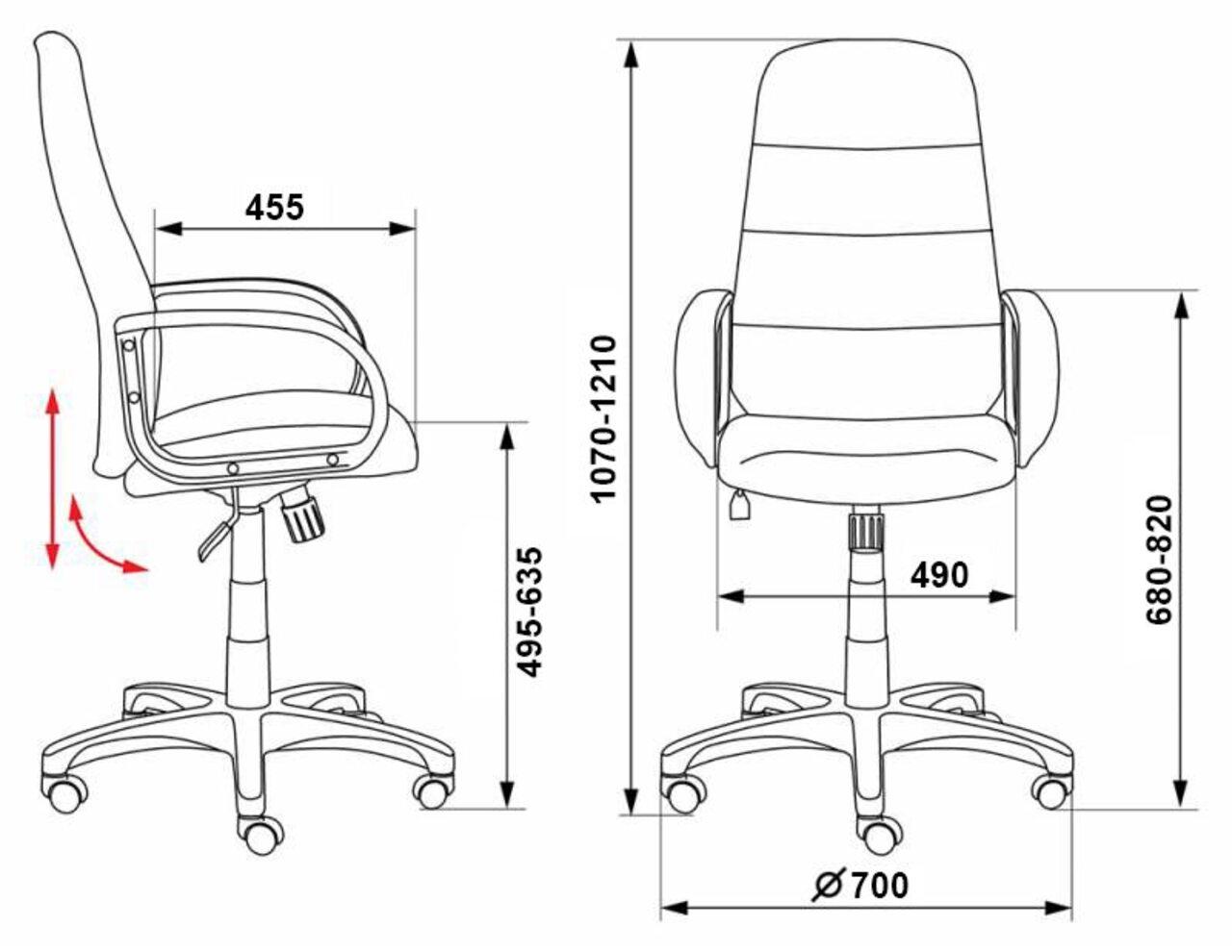 Кресло руководителя CH-808AXSN/LBL+TW-11 - фото 3