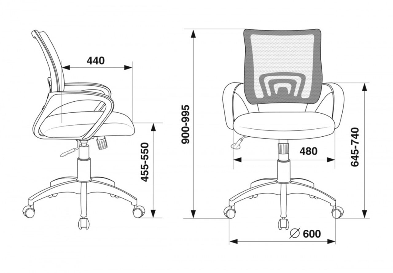 Кресло для персонала CH-695N/ - фото 10