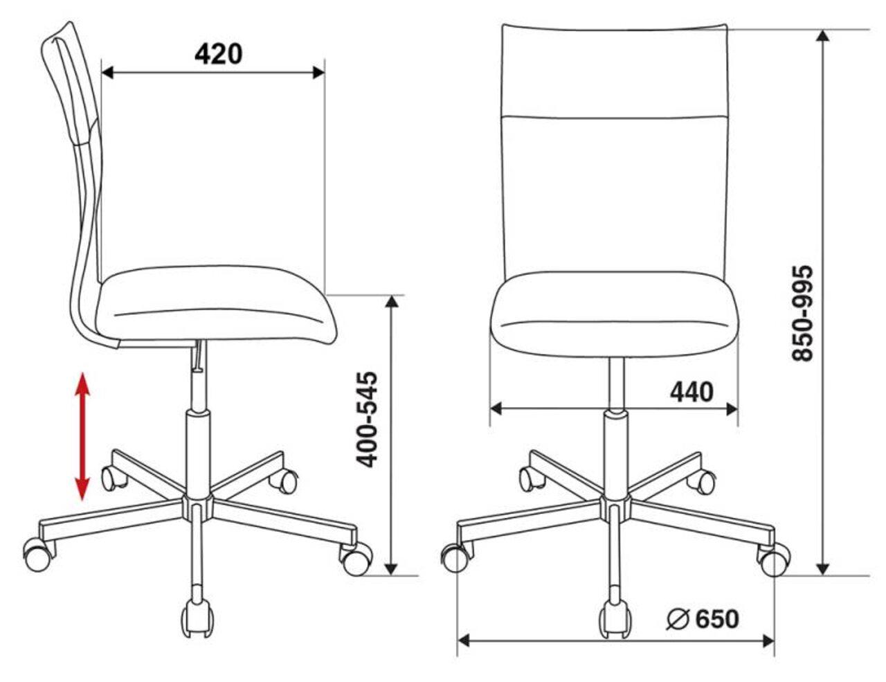 Кресло для персонала CH-1399 - фото 3