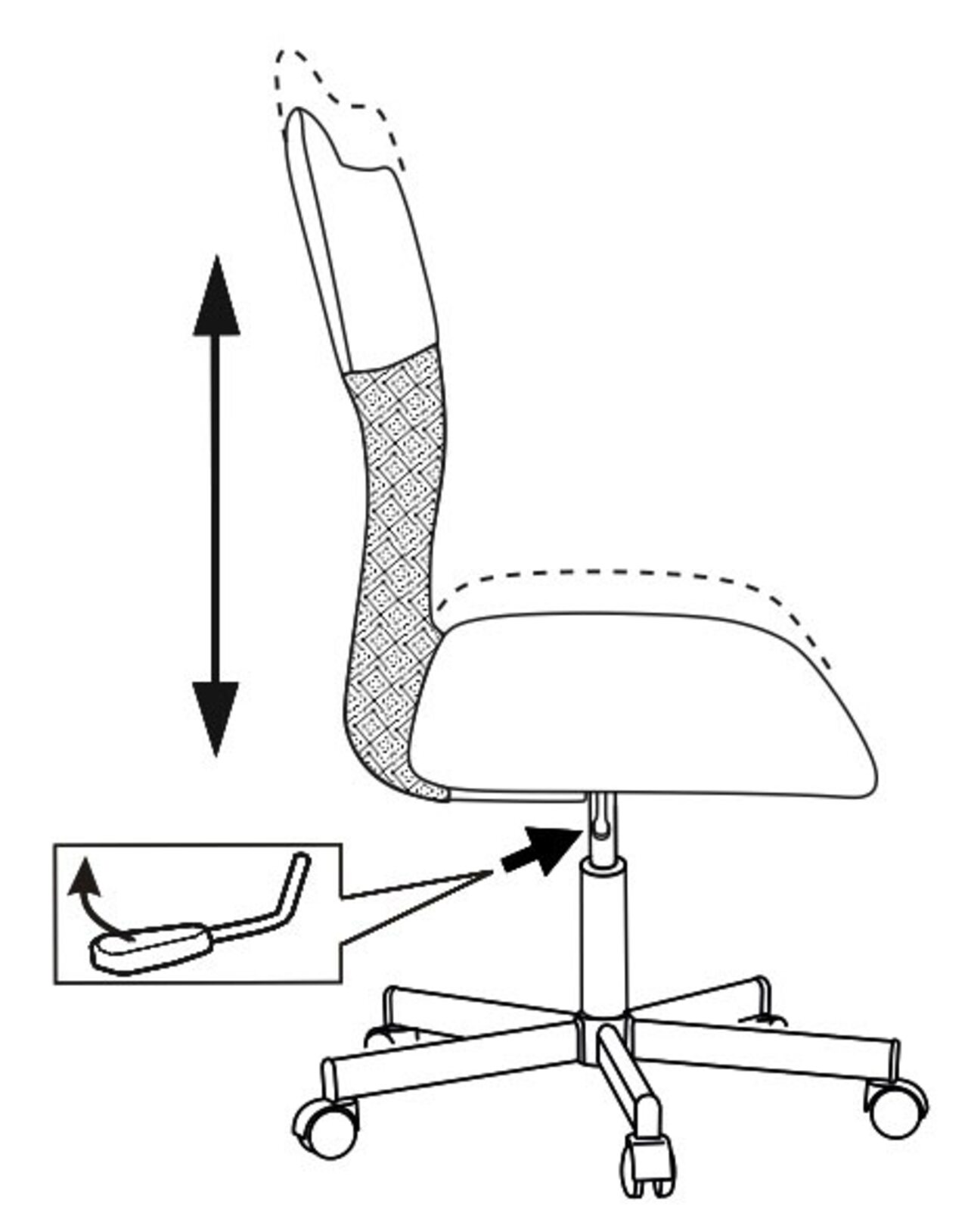 Кресло для персонала CH-1399 - фото 2