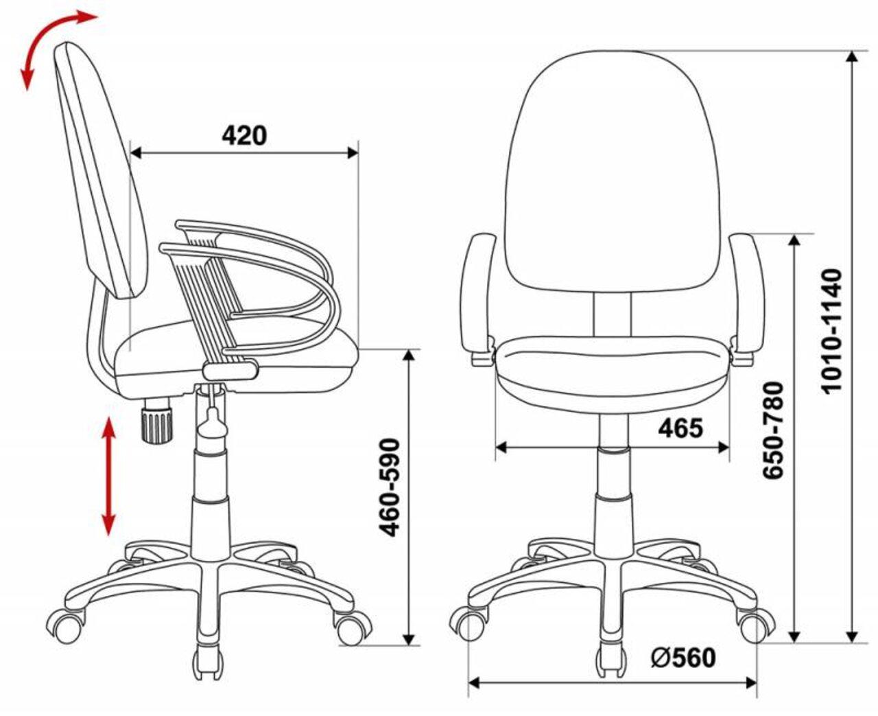 Кресло для персонала CH-300 - фото 7