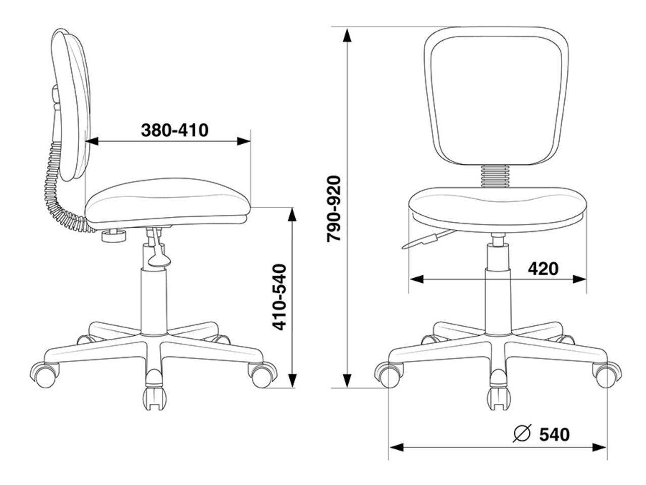 Кресло для персонала CH-204NX/26-22 - фото 5
