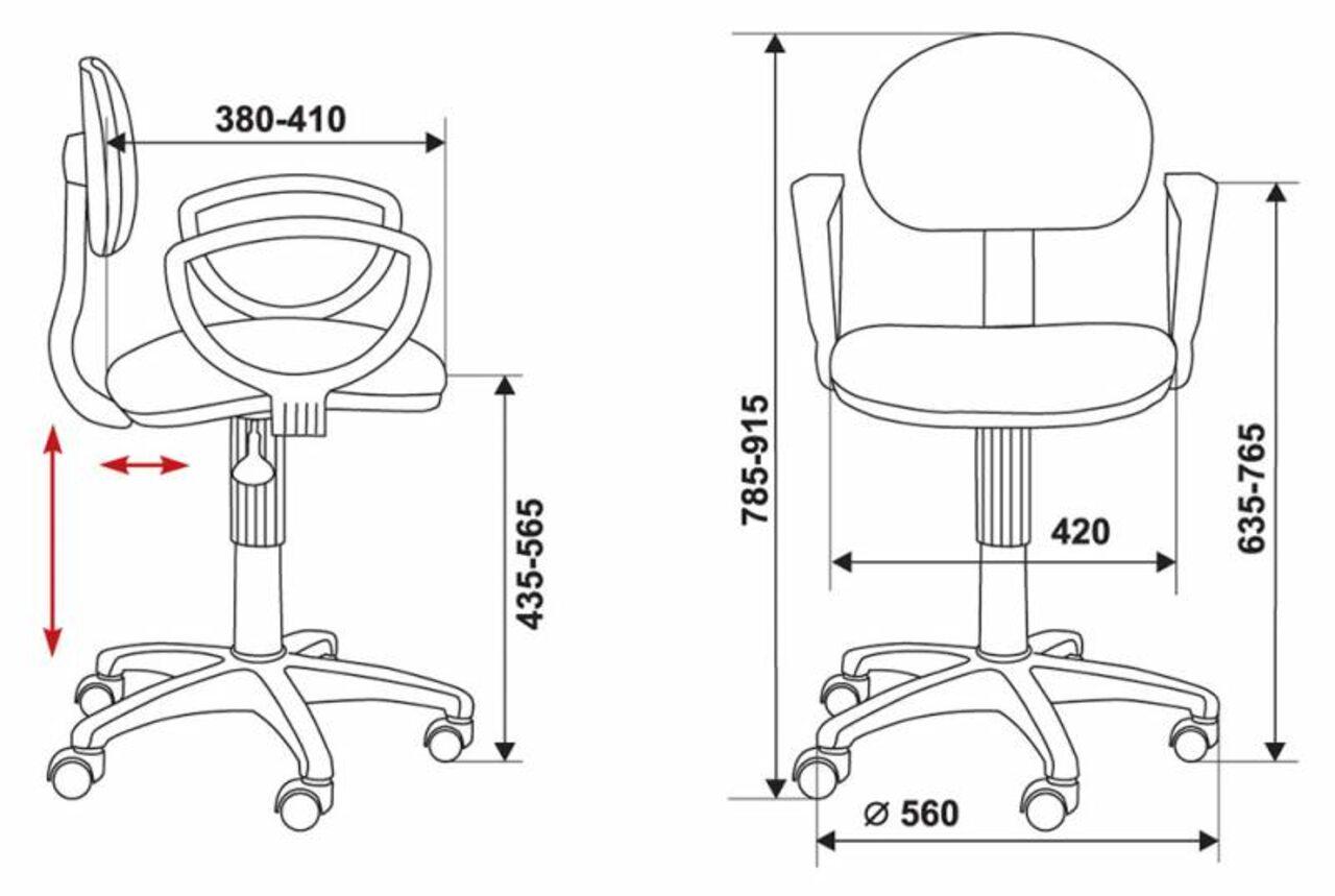 Кресло для персонала CH-213AXN/B - фото 6