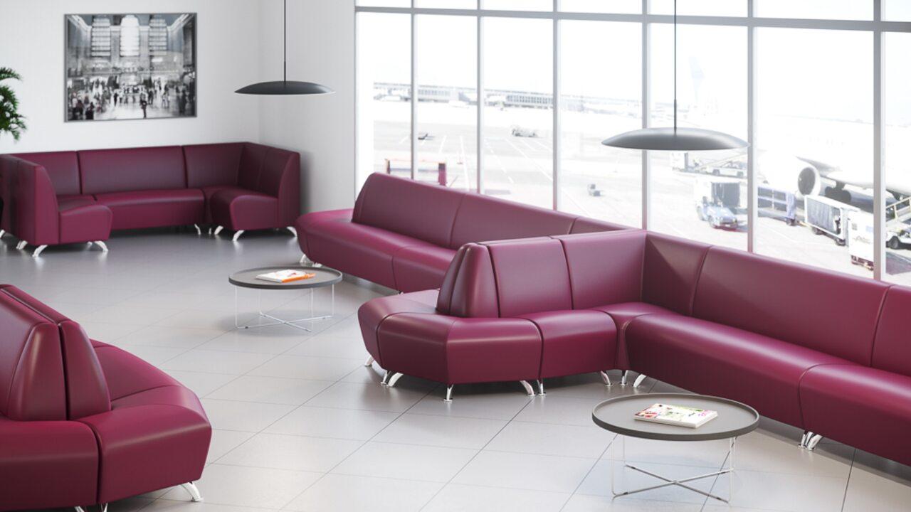 Мягкая офисная мебель ИНТЕР хром - фото 1