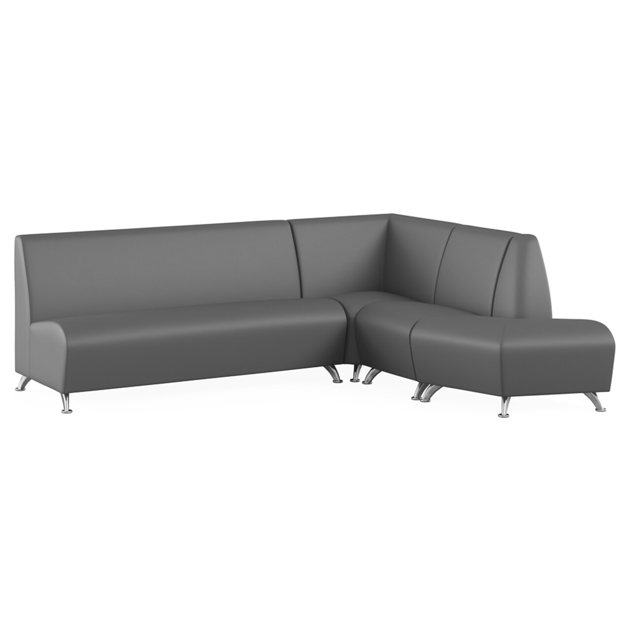 Мягкая офисная мебель ИНТЕР хром - фото 5