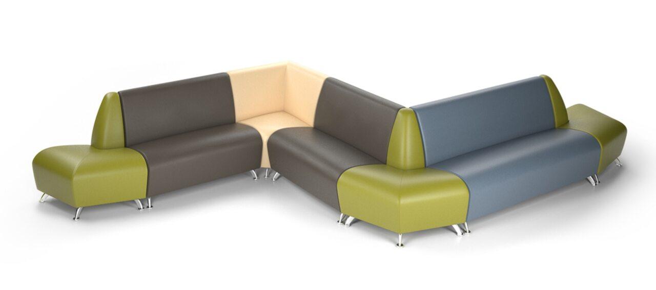 Мягкая офисная мебель ИНТЕР хром - фото 4