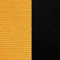 Оранжевая сетка/черная ткань