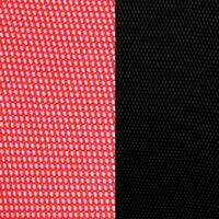 Красная сетка/черная ткань