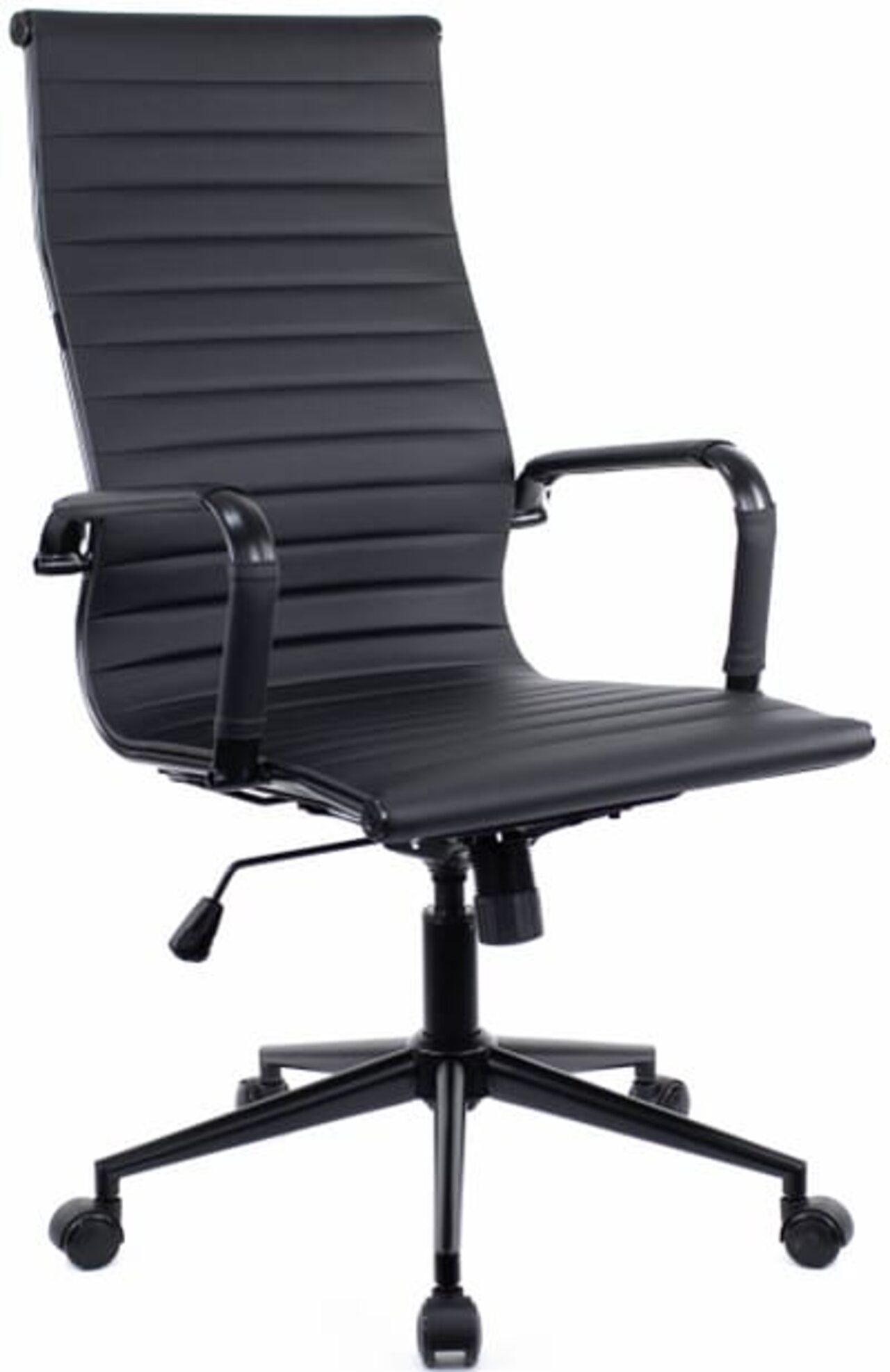 Кресло для руководителя Rio Black T экокожа - фото 1
