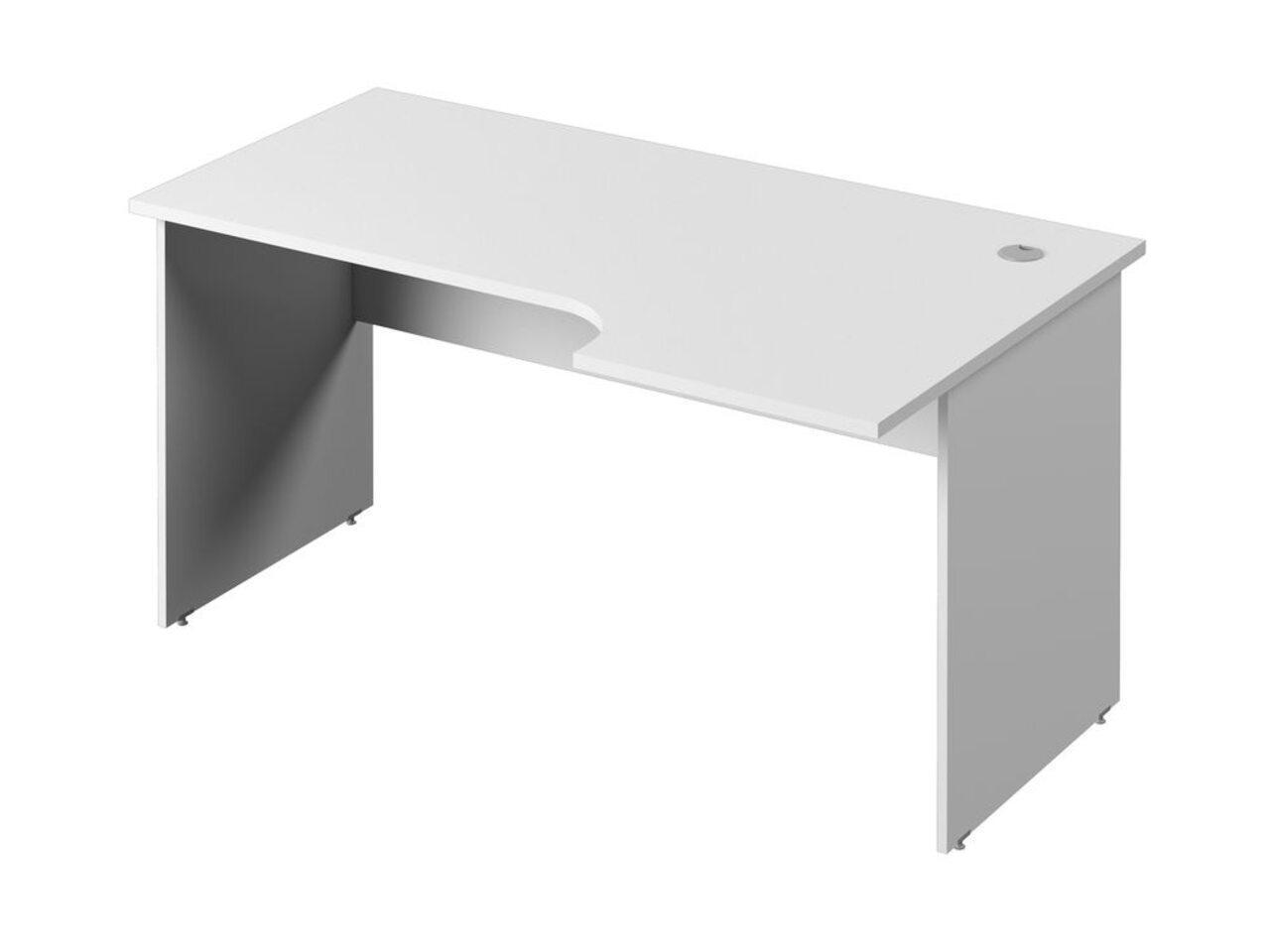 Стол эргономичный с опорами из ЛДСП  (правый) Public Comfort 150x52x71 - фото 1