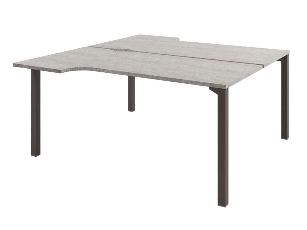 Стол-тандем на металлокаркасе  Solution 160x143x75 - фото 3