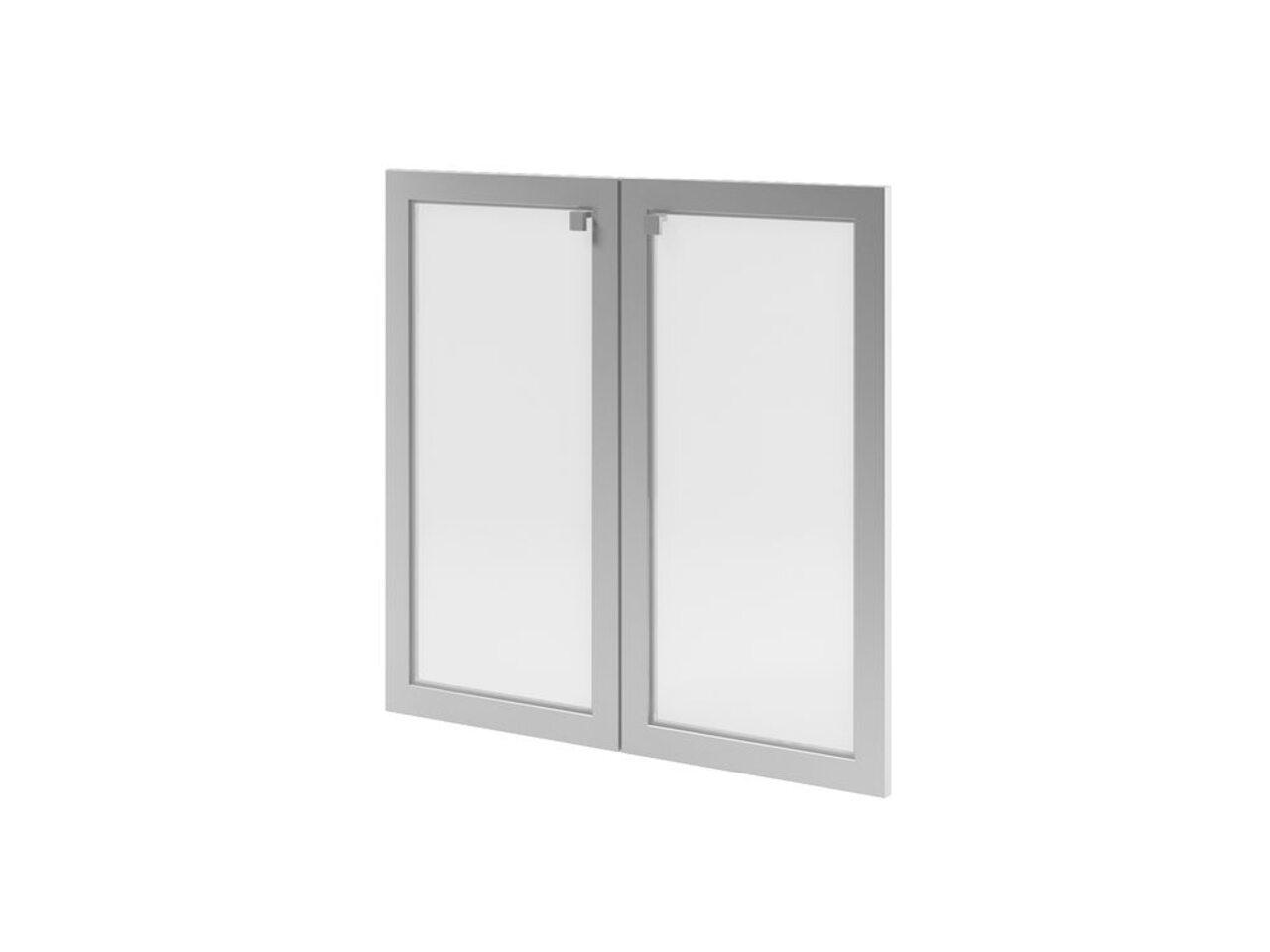Двери низкие с матовым белым стеклом  Space 79x3x77 - фото 1