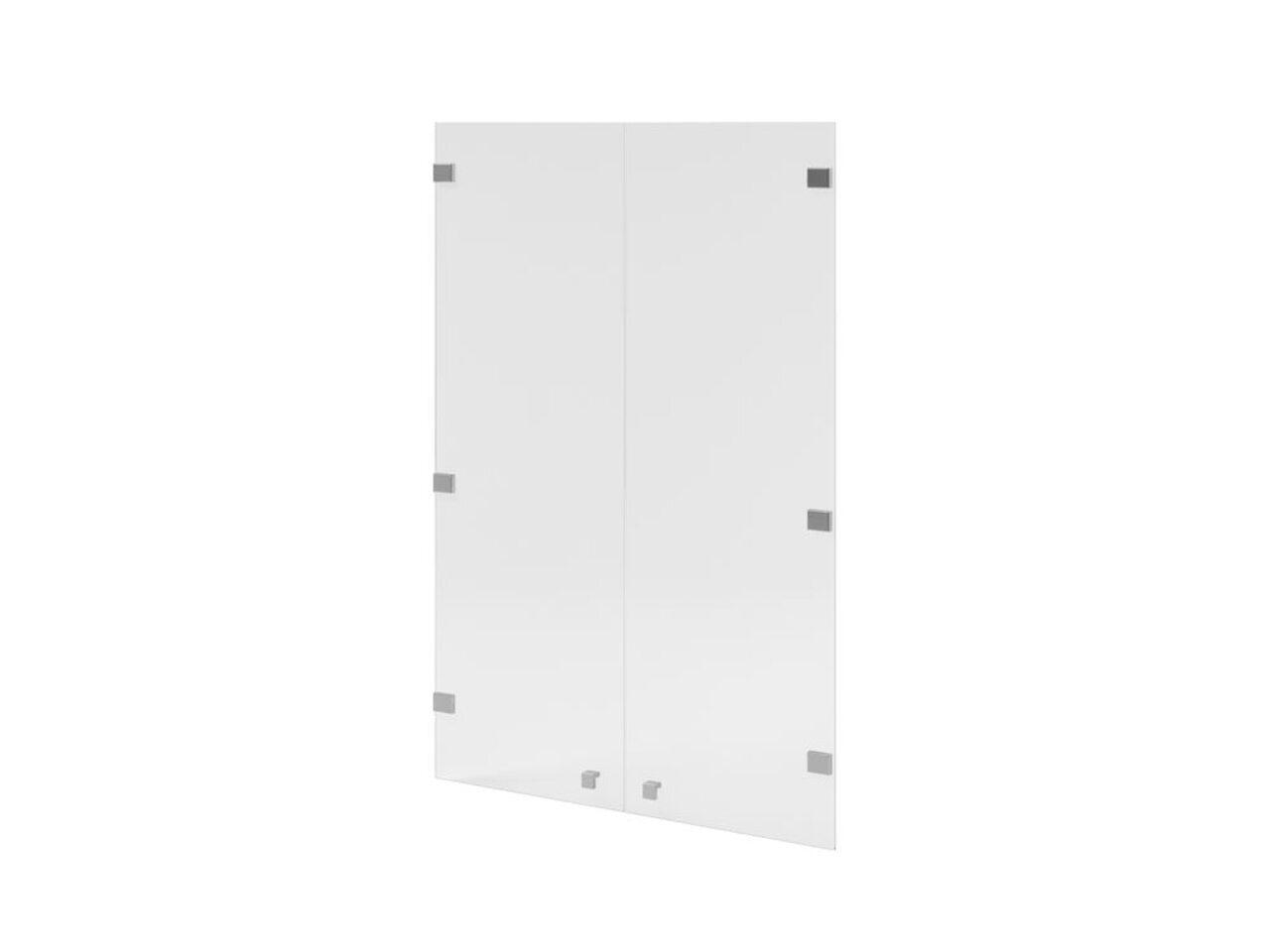 Двери средние с матовым белым стеклом  Space 79x1x115 - фото 1