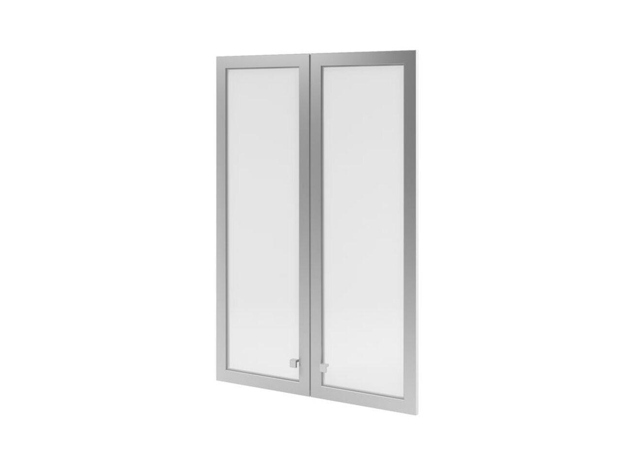 Двери средние с матовым белым стеклом  Space 79x3x115 - фото 1