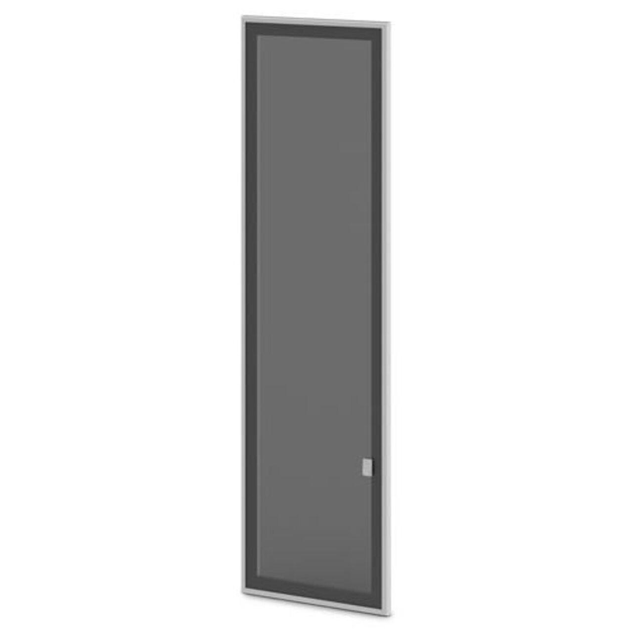 Дверь стеклянная тонированная в алюминиевом профиле (левая) Vasanta 41x2x141 - фото 1
