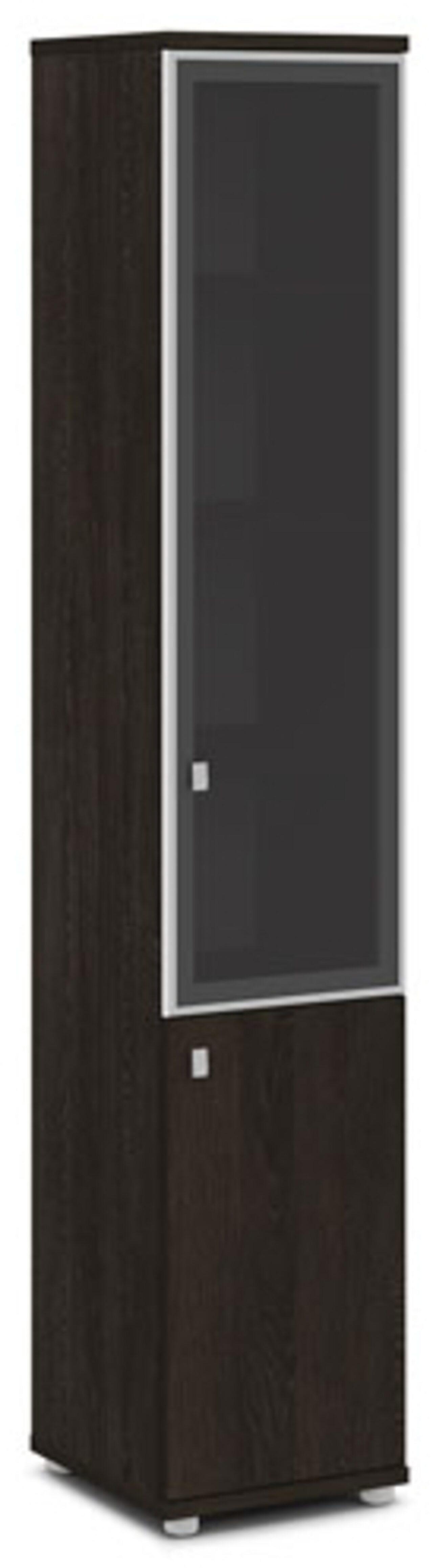 Шкаф со стеклом в алюминиевом профиле  (правый)  Vasanta 42x44x220 - фото 1
