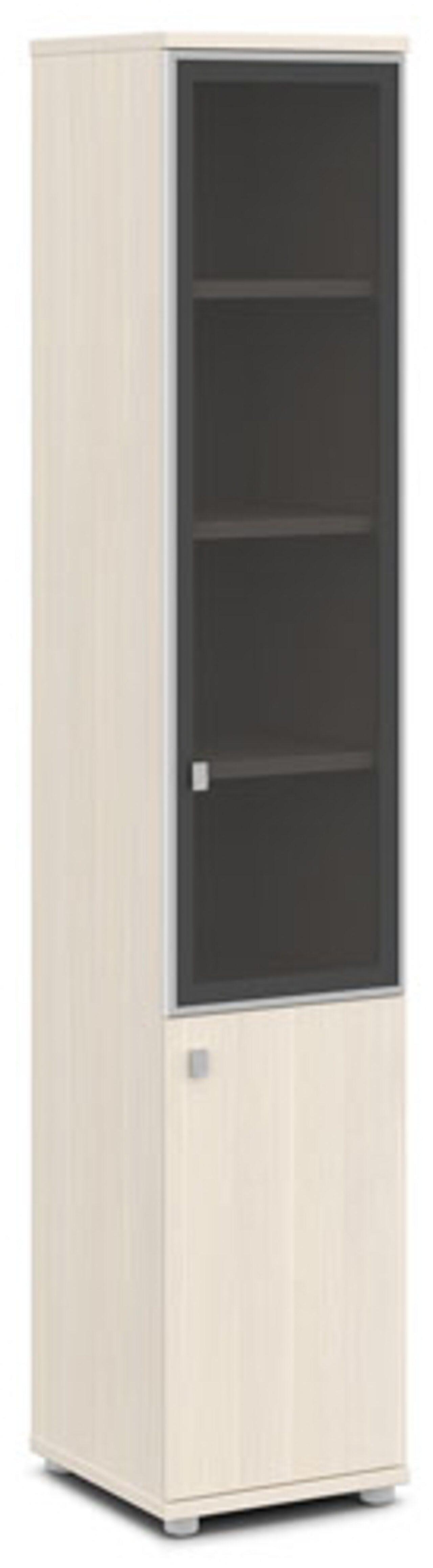 Шкаф со стеклом в алюминиевом профиле  (правый)  Vasanta 42x44x220 - фото 4