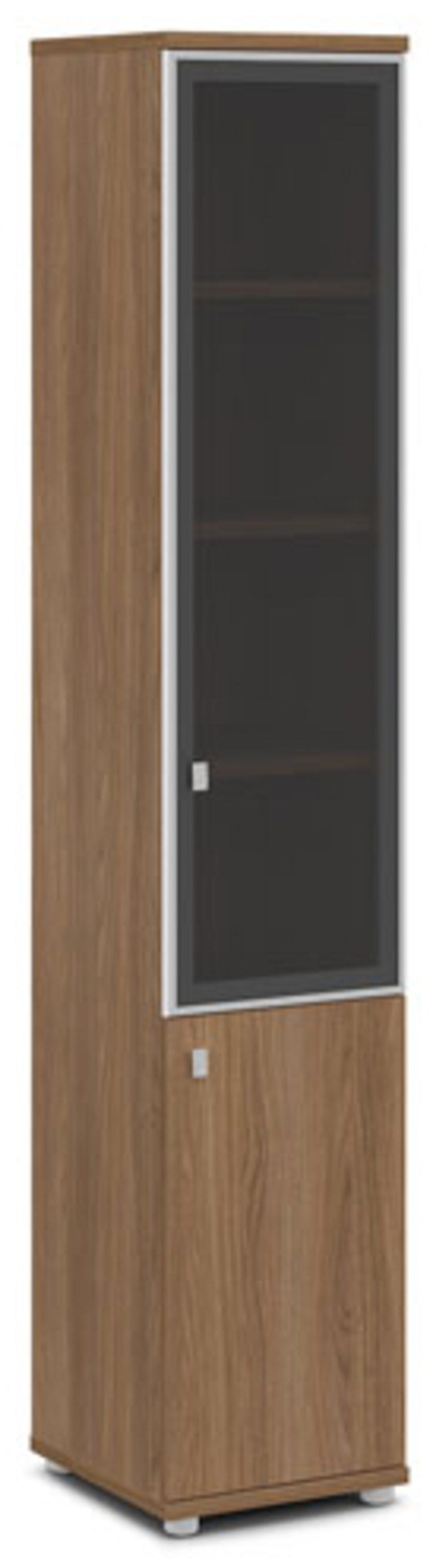 Шкаф со стеклом в алюминиевом профиле  (правый)  Vasanta 42x44x220 - фото 3