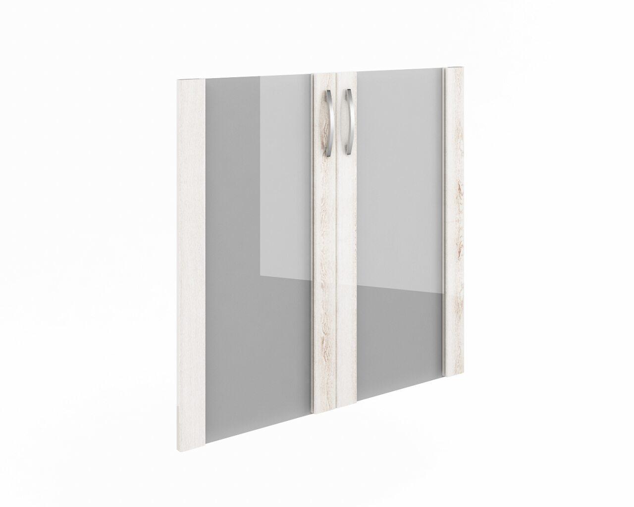 Дверь низкая стекло в рамке МДФ - фото 1