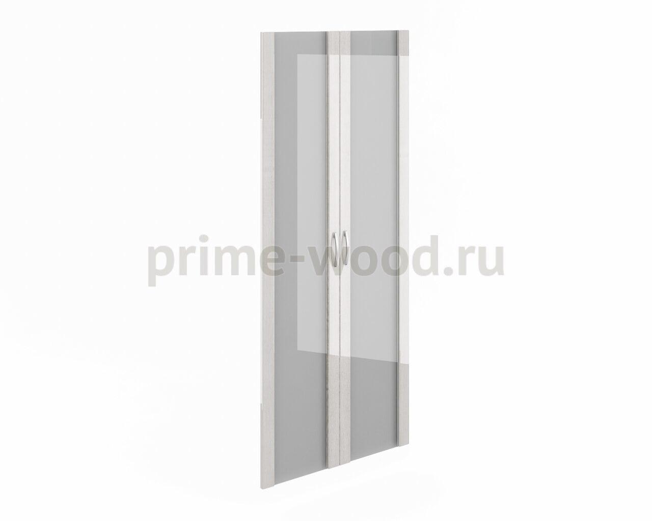 Дверь высокая стекло в рамке МДФ - фото 1