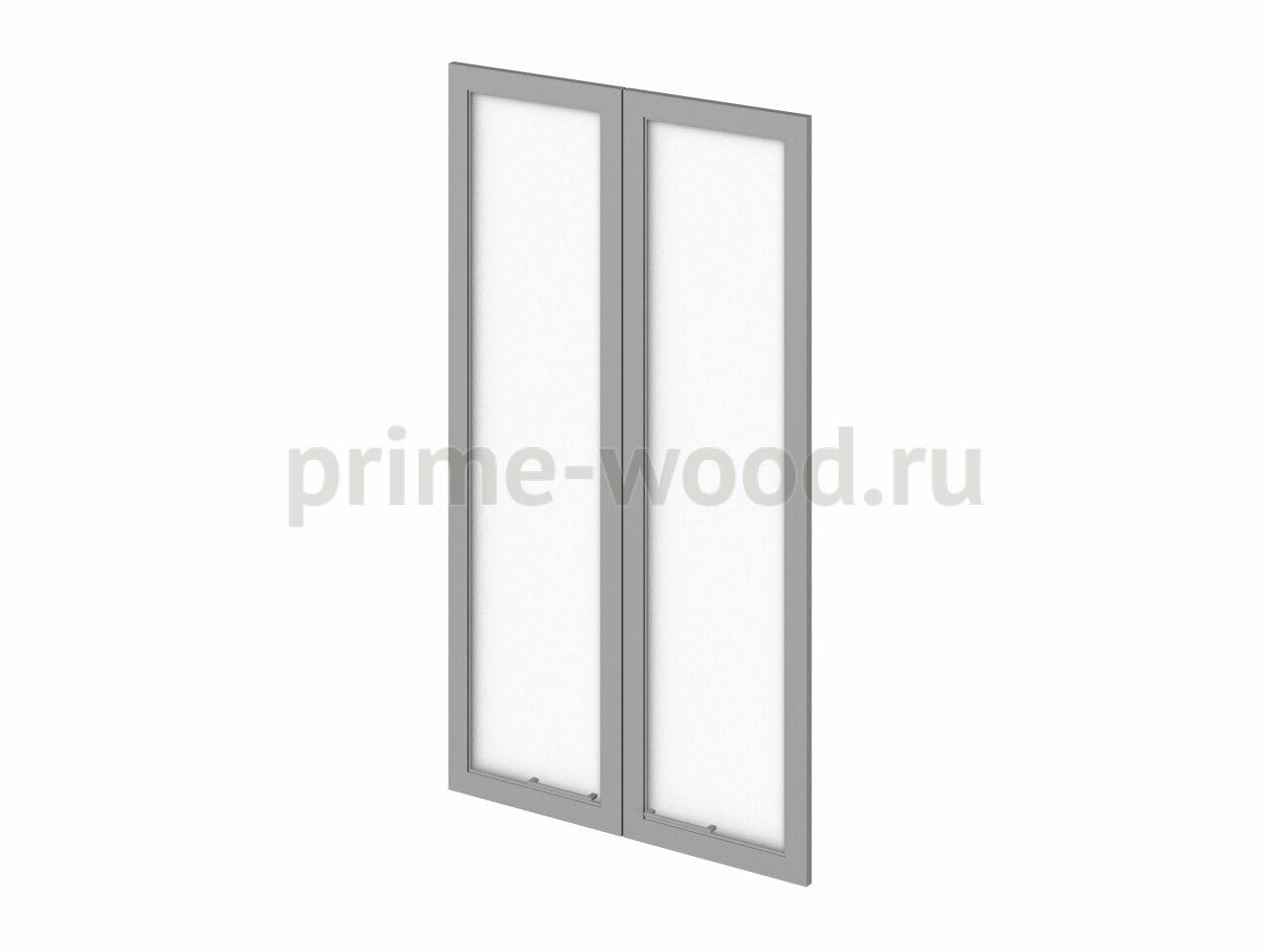 Двери средние стеклянные - фото 1